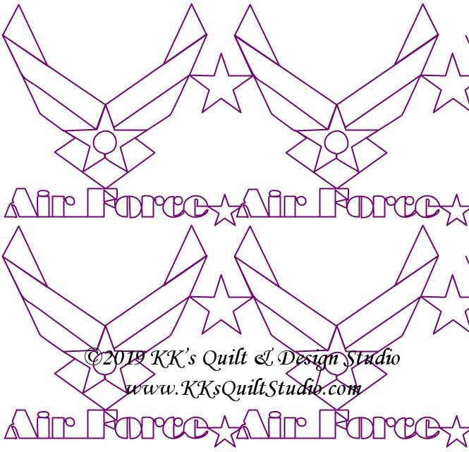 Us Air Force Edge2edge 3 Digital Quilting Design,Simple Landscape Design Drawings